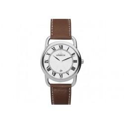 Michel herbelin équinoxe homme acier bracelet cuir19467/08go