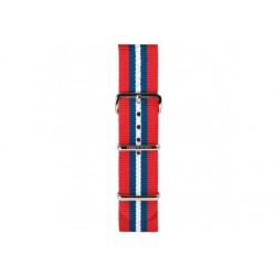 Bracelet nato Briston rayé rouge / bleu / blanc