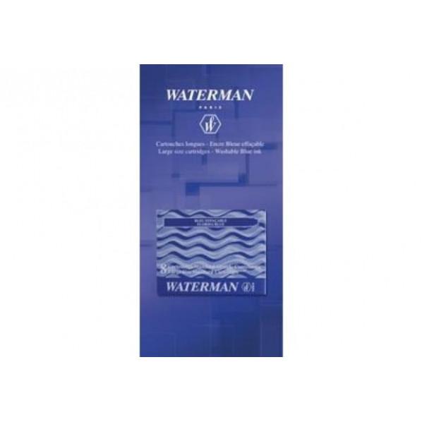 Waterman cartouche longue bleu