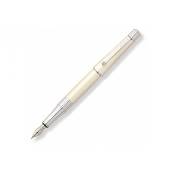 Stylo plume Beverly laqué blanche nacre