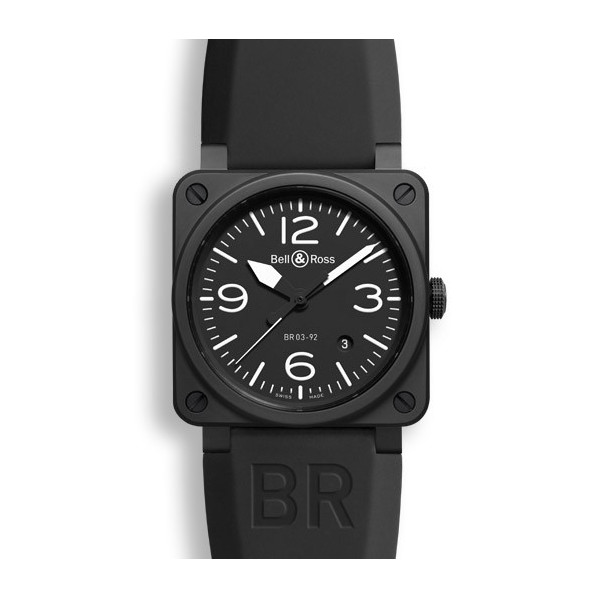 Bell&Ross Aviation automatique BR 03-92 noir mat céramique 42 MM