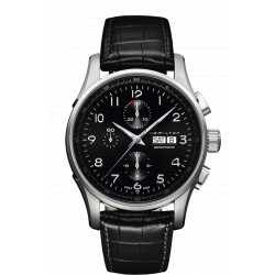 Hamilton jassmaster maestro chrono jazzmaster 45mm automatique bracelet cuir noir