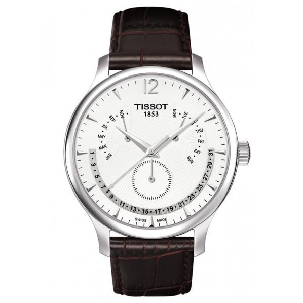 Tissot quartz homme Tradition perpetual calendar bracelet cuir