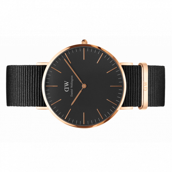 CORNWALL 40 MM Classic black or rose bracelet nato