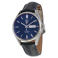 TagHeuer Carrera bleu 41 mm automatique calibre 5 jour/date bracelet alligator