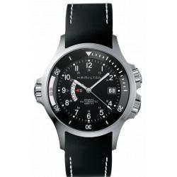 Khaki navy gmt cadran noir automatique bracelet caoutchouc noir