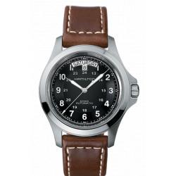 Hamilton Khaki King 40mm automatique cadran noir bracelet cuir