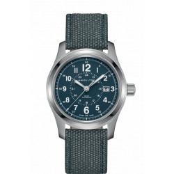 HAMILTON Khaki Field 42 mm cadran bleu automatique bracelet bleu