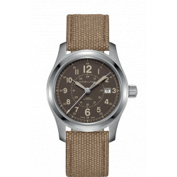 HAMILTON Khaki Field 42mm cadran marron automatique bracelet marron