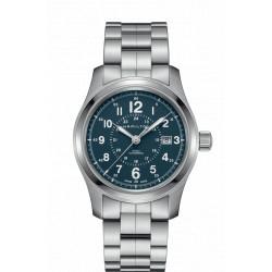 HAMILTON Khaki Field 42mm bleu automatique bracelet acier
