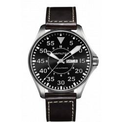 HAMILTON KHAKI PILOT AUTOMATIQUE 46 MM bracelet cuir