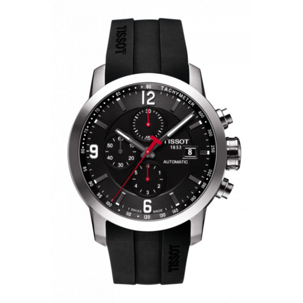 Tissot PRC 200 automatique chronographe homme bracelet caoutchouc