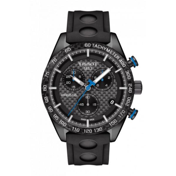 Tissot PRS 516 homme chrono quartz bracelet caoutchouc noir