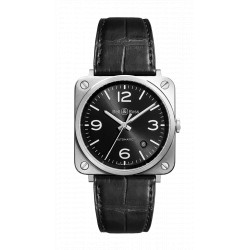 Bell&Ross Aviation BRS 39 mm Officier Black