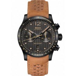 MIDO Multifort automatique chronographe bracelet cuir