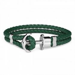 PAUL HEWITT PHREPS bracelet cuir ancre vert