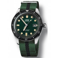 Oris diver sixty-five automatique 42 mm vert bracelet Nato