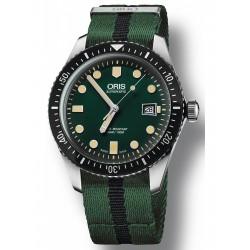 Oris diver sixty-five automatique 42 mm vert bracelet Nato