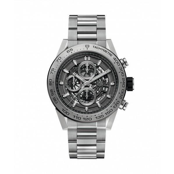 TagHeuer Carrera automatique calibre Heuer 01 chronographe titane gris phantome