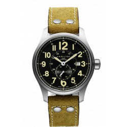 HAMILTON KHAKI officier automatique 44 MM cuir