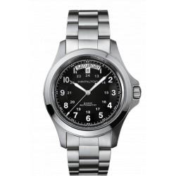 Hamilton Khaki King 40 mm automatique cadran noir bracelet acier