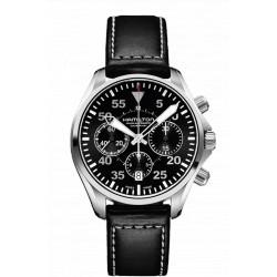 HAMILTON KHAKI PILOT AUTOMATIQUE CHRONO 42 MM bracelet cuir
