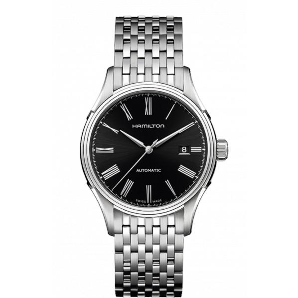 HAMILTON VALIANT 40 MM automatique fond noir bracelet acier