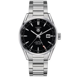 TAGHEUER TWIN TIME CALIBRE 7 ACIER
