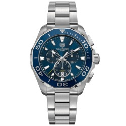 TAGHEUER AQUARACER CHRONOGRAPHE QUARTZ ACIER 43 MM