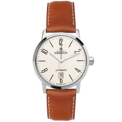 Michel Herbelin city homme automatique bracelet cuir ref:1669/07GO