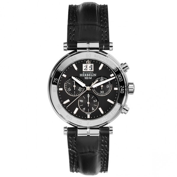 Michel herbelin newport homme chrono noir 40,3 mm