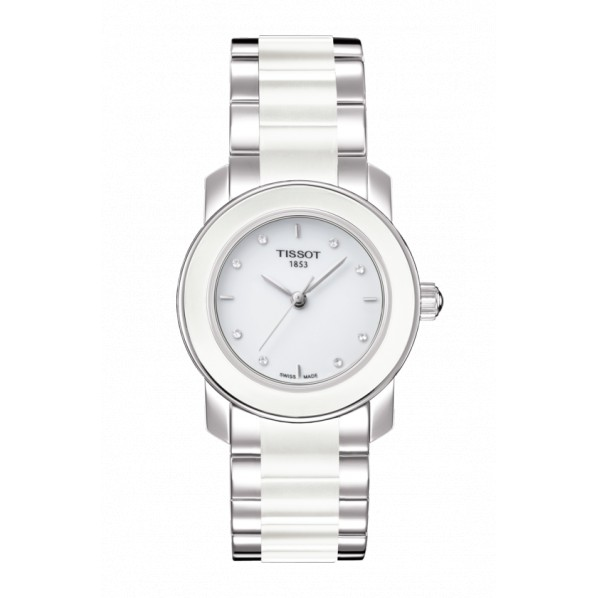 TISSOT CERAMIQUE QUARTZ FEMME DIAMANTS