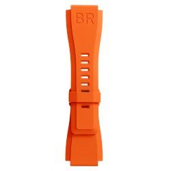 BELL&ROSS Bracelet en caoutchouc noir BR-X1 - BR 01 - BR 03
