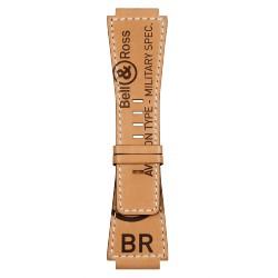 BELL&ROSS Bracelet en veau naturel Heritage BR-X1 - BR 01 - BR 03 avec marquage