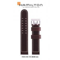 HAMILTON BRACELET CUIR 20/20 BRUN