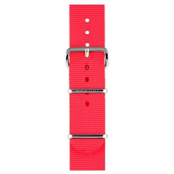 Bracelet nato briston nylon rose fluo