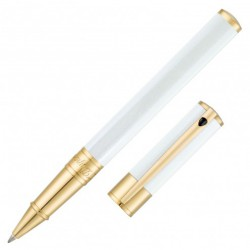 S.T.DUPONT D-INITIAL ROLLER BLANC FINITION OR JAUNE