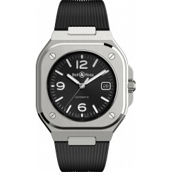 BELL&ROSS BR 05 BLACK STEEL CAOUTCHOUC