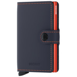 SECRID Miniwallet Mat bleu &oranhe