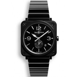BELL&ROSS Aviation BRS quartz 39 mm Céramique noir bracelet Céramique