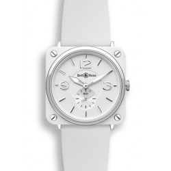 Bell&Ross Aviation BRS quartz 39 MM céramique blanche