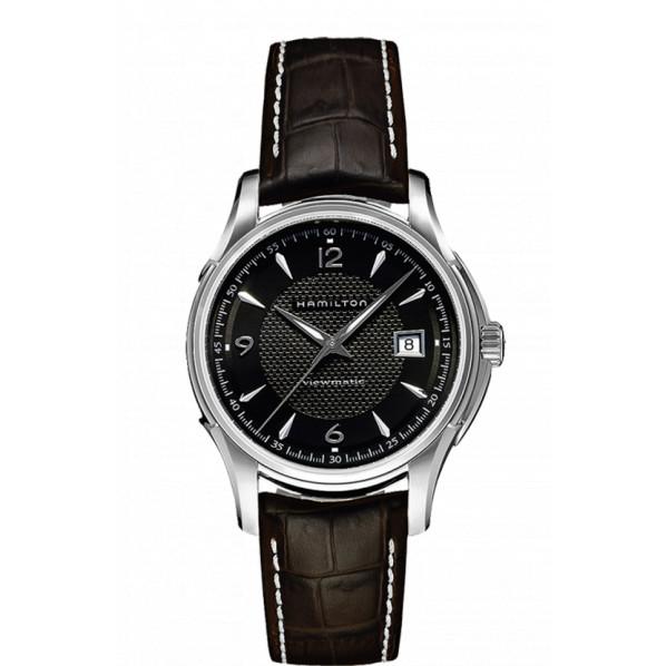 Hamilton jazzmaster viewmatic automatique bracelet cuir marron