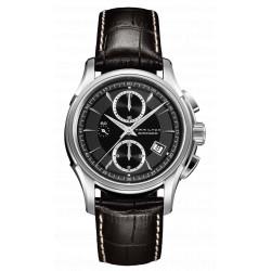 Hamilton jazzmaster chrono automatique noir bracelet cuir