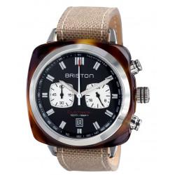 Clubmaster sport acétate 42 mm - chronographe écaille de tortue cadran noir
