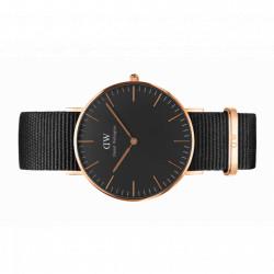CORNWALL 36 MM Classic black or rose bracelet nato