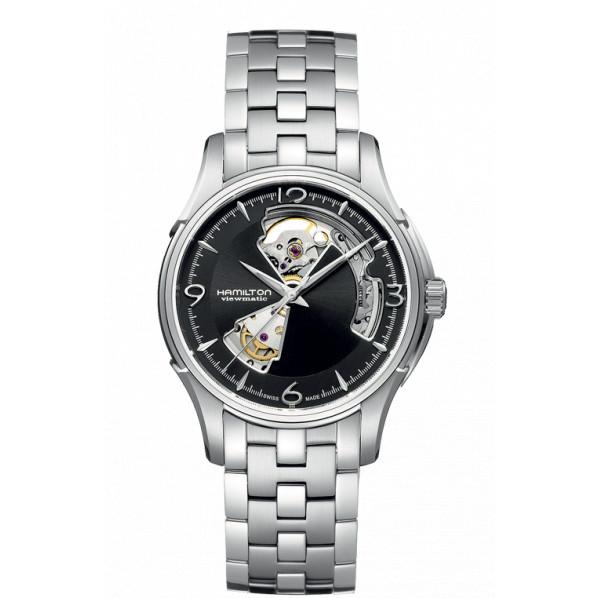 Hamilton Jazzmaster Open Heart automatique fond noir bracelet acier