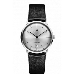 Hamilton intra-matic 38mm cadran gris automatique bracelet cuir