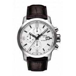 Tissot PRC 200 automatique chronographe homme bracelet cuir