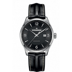 Hamilton Jazzmaster Viewmatic automatique 44 mm bracelet cuir noir