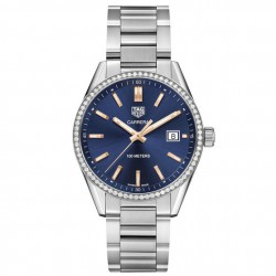 TagHeuer Carrera femme quartz 39 mm 72 diamants